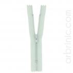 Fermeture fine nylon NS 10cm Vert de Gris