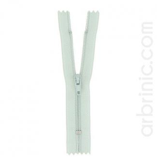 Fermeture fine nylon non séparable Vert de Gris
