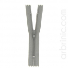 Nylon finished zipper 10cm Mouse Grey