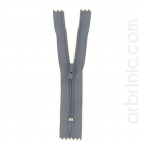 Nylon finished zipper 10cm Concrete Grey