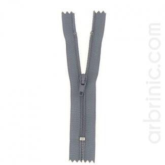 Fermeture fine nylon non séparable Gris Béton