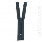 Fermeture fine nylon NS 10cm Gris Ardoise