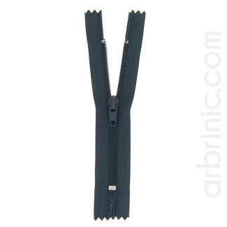 Nylon finished zipper Slate Grey