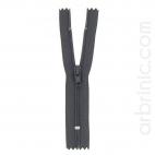 Fermeture fine nylon NS 10cm Gris Brun