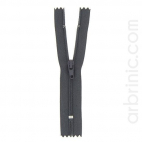 Nylon finished zipper 10cm Brown Grey