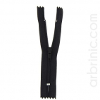 Fermeture fine nylon NS 10cm Noir