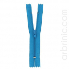 Nylon finished zipper 10cm Turquoise