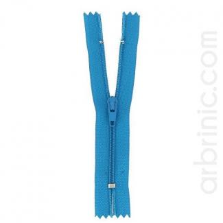 Nylon finished zipper Turquoise
