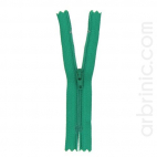 Nylon finished zipper 10cm Kelly Green