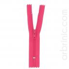 Fermeture fine nylon NS 10cm Rose Flashy