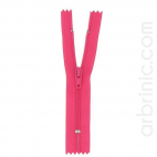Nylon finished zipper 10cm Flashy Pink