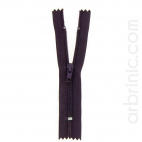 Nylon finished zipper 10cm Dark Plum