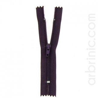Nylon finished zipper Dark Plum