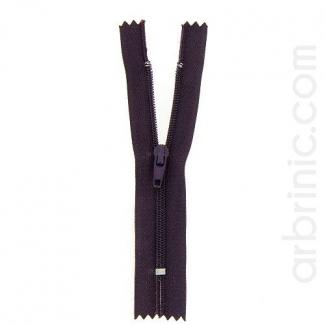 Nylon finished zipper Dark Plum