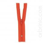 Fermeture fine nylon NS 10cm Rouge Orangé