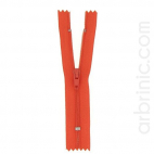 Nylon finished zipper 10cm Orange Red