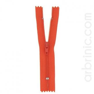 Nylon finished zipper Orange Red
