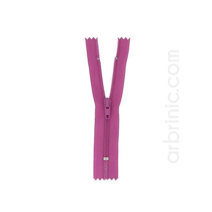 Nylon finished zipper 10cm Plum
