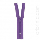 Nylon finished zipper 10cm Purple