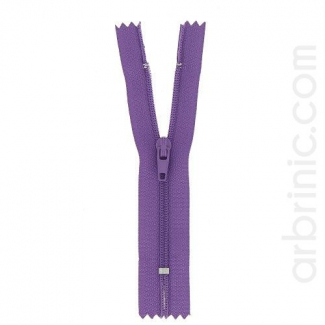 Nylon finished zipper Purple