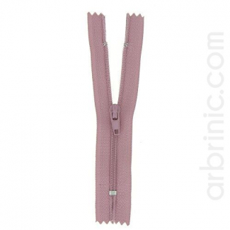 Nylon finished zipper Antique Pink