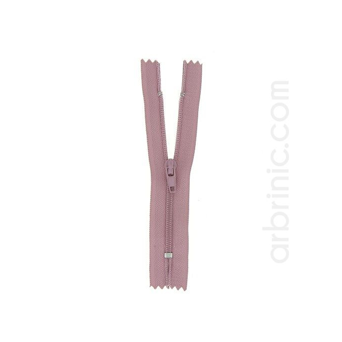 Nylon finished zipper 10cm Antique Pink
