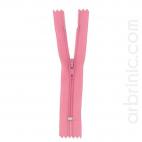 Nylon finished zipper 10cm Princess Pink