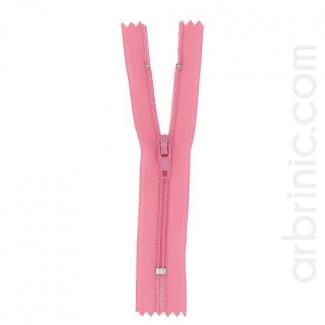 Fermeture fine nylon non séparable Rose Princesse