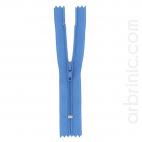 Nylon finished zipper 10cm Denim Blue