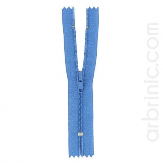 Fermeture fine nylon non séparable Bleu Denim