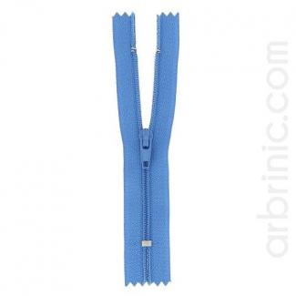 Nylon finished zipper Denim Blue
