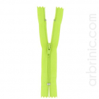 Nylon finished zipper 10cm Lime Green