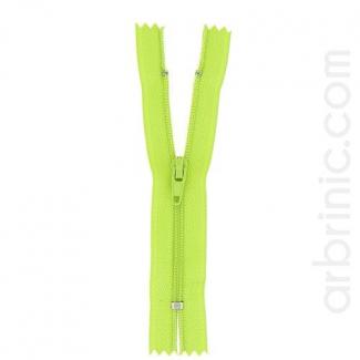 Nylon finished zipper Lime Green