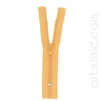 Nylon finished zipper Light Orange