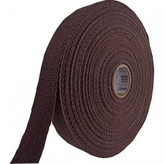 Sangle coton 30mm Chocolat (bobine 15m)