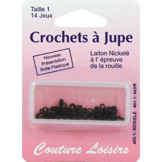 Crochets à jupe Taille 1 Couleur Noir (14 jeux)