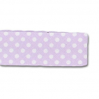 Single Fold Bias Dots White on Lilac 20mm (25m roll)