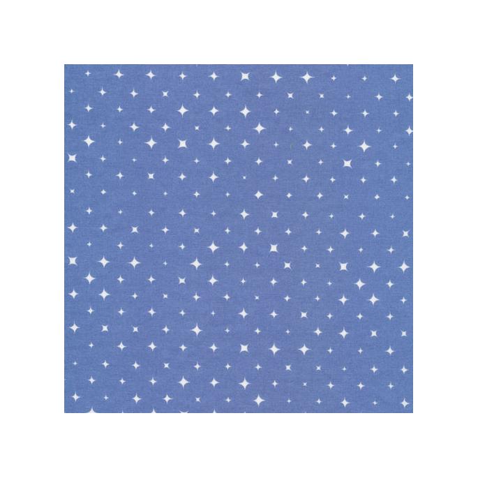 Organic cotton print Alpine Blue Stars Cloud9 (per 10cm)