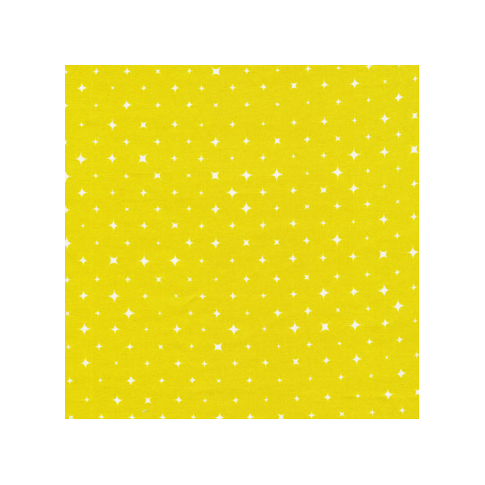 Organic cotton print Oasis Citron Stars Cloud9 (per 10cm)