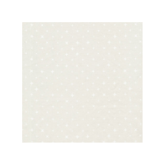 Organic cotton print Mist Light Grey Stars Cloud9 (per 10cm)
