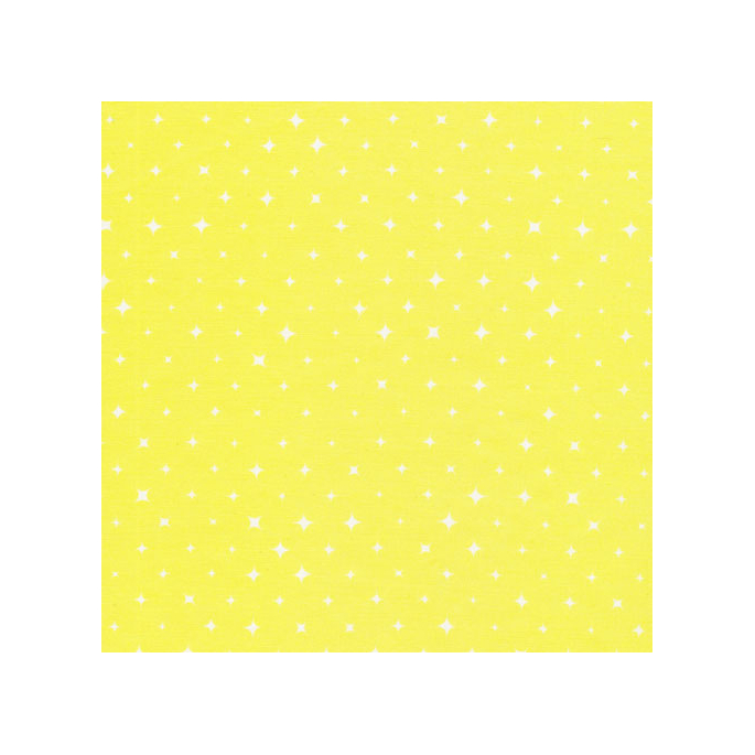 Organic cotton print Aura Yellow Stars Cloud9 (per 10cm)