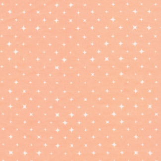 Organic cotton print Fresh Coral Stars Cloud9 (per 10cm)
