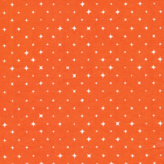 Organic cotton print Bloom Orange Stars Cloud9 (per 10cm)