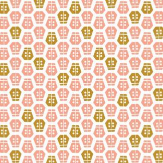 Organic cotton print Vignette Ladybug Cloud9 (per 10cm)