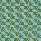 Coton Bio imprimé Typography Ampersand Cloud9 (par 10cm)