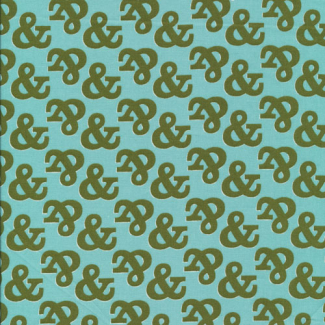 Coton Bio imprimé Typography Ampersand Cloud9