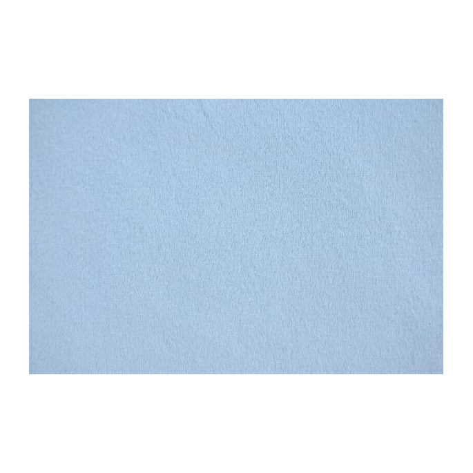 Minky Bleu Ciel laize 145/150cm (au mètre)