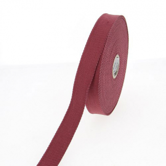 Sangle coton 23mm Bordeaux (bobine 15m)