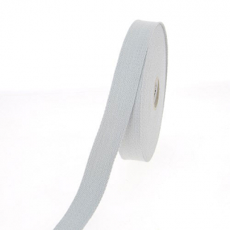 Cotton Webbing 23mm Light Grey (15m roll)
