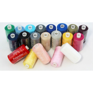 All purpose sewing thread 20 assorted 500m spools
